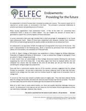 Endowments: Providing for the Future